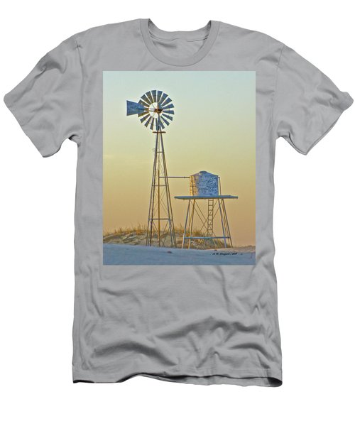 Windmill At Dawn 2011 Men's T-Shirt (Athletic Fit)
