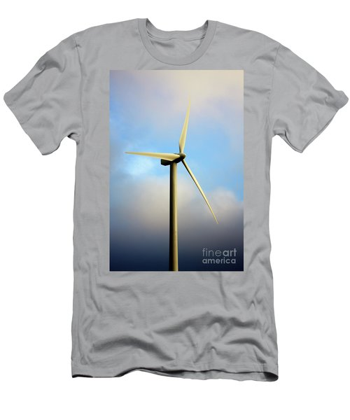 Windmill Dark Blue Sky Men's T-Shirt (Athletic Fit)