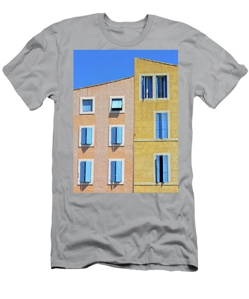 Men's T-Shirt (Slim Fit) featuring the photograph Windows Martigues Provence France by Dave Mills