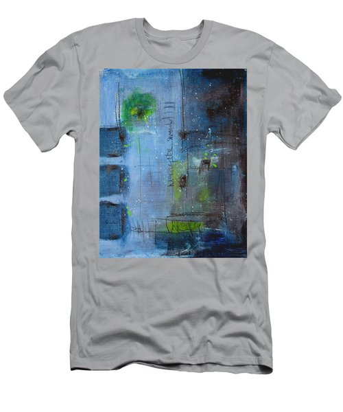 Men's T-Shirt (Slim Fit) featuring the painting Winter 2 by Nicole Nadeau