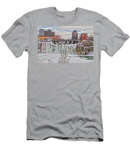 Winter At High Falls Men's T-Shirt (Athletic Fit)