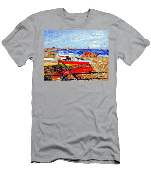 Winter At Provincetown Men's T-Shirt (Athletic Fit)