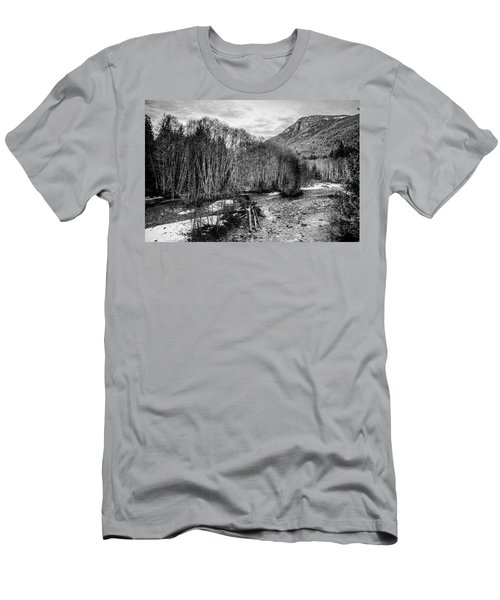 Winter Backroads Englishman River Men's T-Shirt (Athletic Fit)