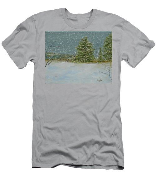 Men's T-Shirt (Athletic Fit) featuring the painting Winter Blanket by Judith Rhue