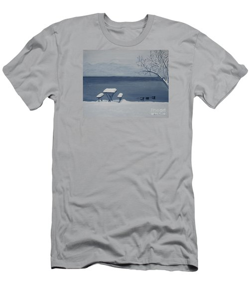 Winter By The Lake Men's T-Shirt (Athletic Fit)