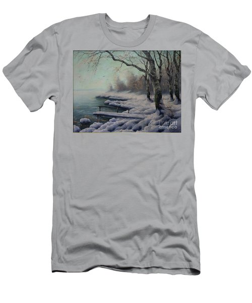 Winter Coming On The Riverside Men's T-Shirt (Athletic Fit)
