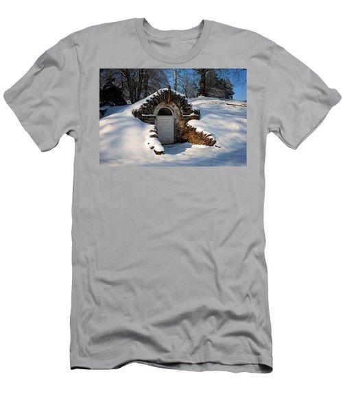 Winter Hobbit Hole Men's T-Shirt (Athletic Fit)