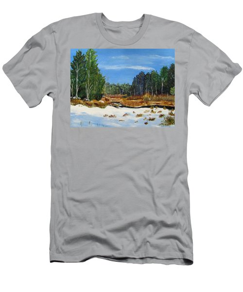 Winter Marsh In Hooksett Men's T-Shirt (Athletic Fit)