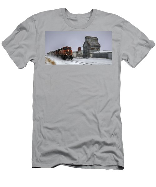 Winter Mixed Freight Through Castle Rock Men's T-Shirt (Slim Fit) by Ken Smith