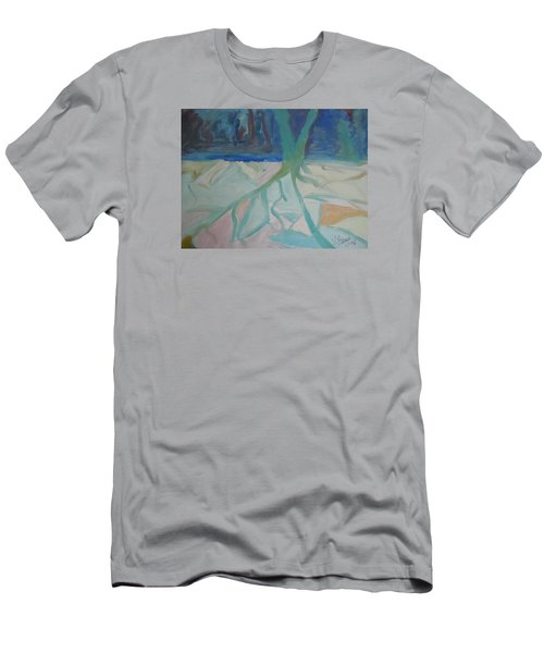 Winter Night Shadows Men's T-Shirt (Slim Fit) by Francine Frank