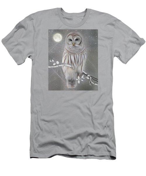Men's T-Shirt (Slim Fit) featuring the digital art Winter Owl by Nina Bradica