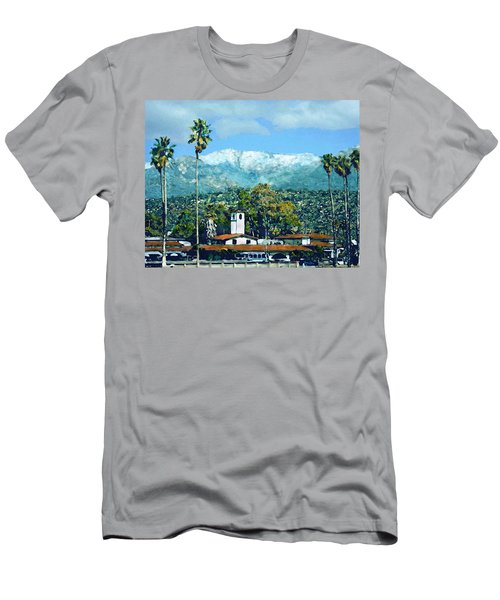 Winter Paradise Santa Barbara Men's T-Shirt (Athletic Fit)