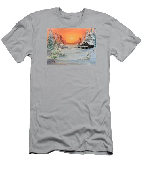 Winter Scene Men's T-Shirt (Athletic Fit)