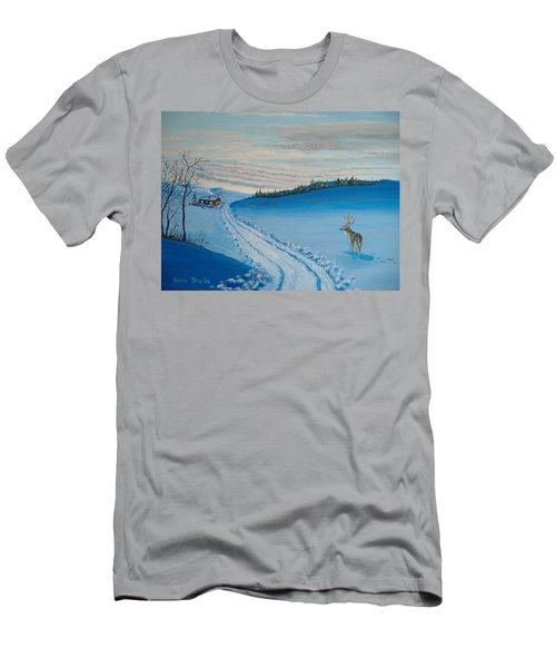 Winter Sentinel Men's T-Shirt (Slim Fit) by Norm Starks