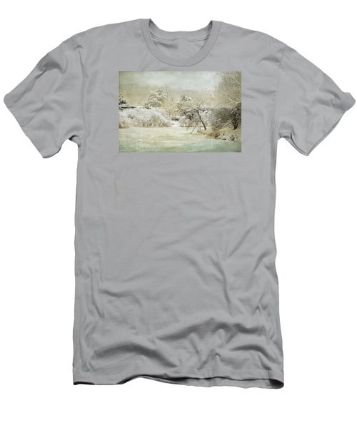 Winter Silence Men's T-Shirt (Slim Fit) by Julie Palencia