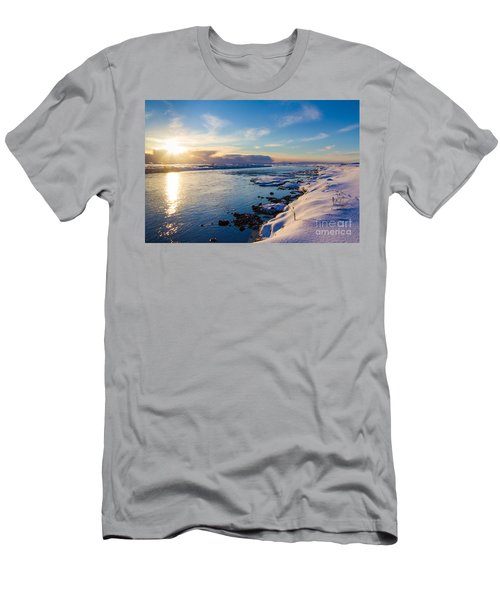 Winter Sunset In Iceland Men's T-Shirt (Athletic Fit)