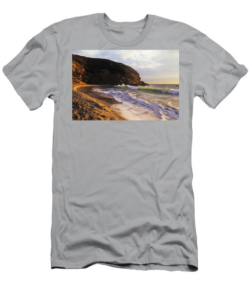 Winter Swells Strands Beach Men's T-Shirt (Athletic Fit)