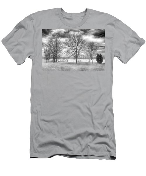 Men's T-Shirt (Athletic Fit) featuring the photograph Winter Trees by Howard Salmon
