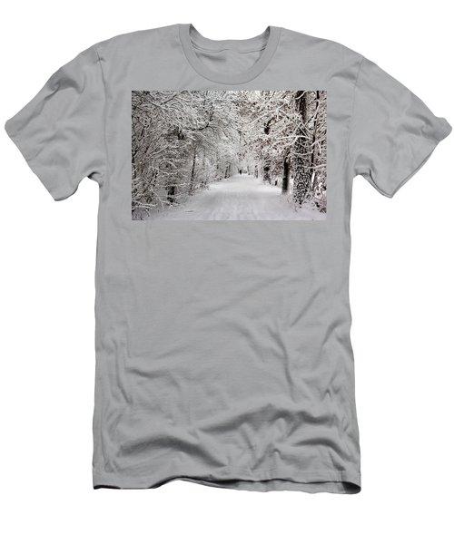 Winter Walk In Fairytale  Men's T-Shirt (Athletic Fit)