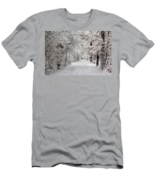Winter Walk In Fairytale  Men's T-Shirt (Athletic Fit)