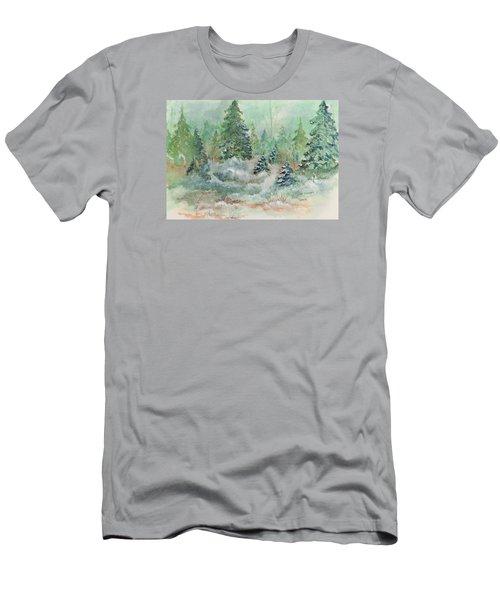 Winter Wonderland Men's T-Shirt (Slim Fit) by Lee Beuther