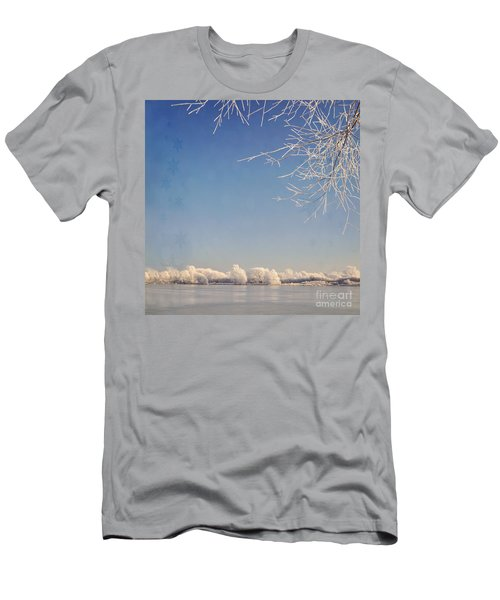 Winter Wonderland With Snowflakes Decoration. Men's T-Shirt (Athletic Fit)