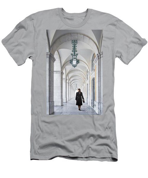 Woman In Archway  Men's T-Shirt (Athletic Fit)