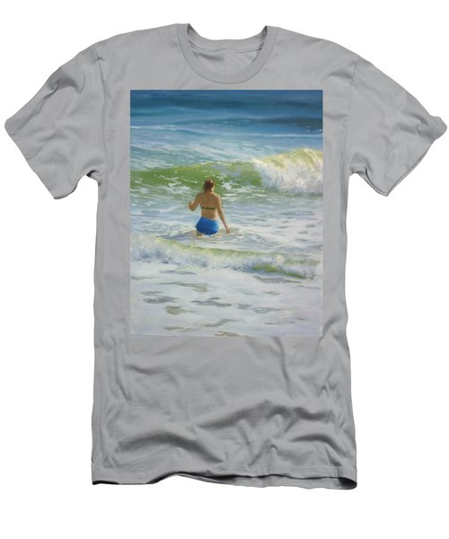 Woman In The Waves Men's T-Shirt (Slim Fit)