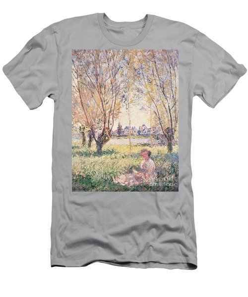 Woman Seated Under The Willows Men's T-Shirt (Athletic Fit)