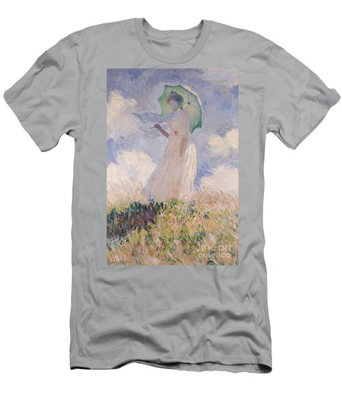 Woman With Parasol Turned To The Left Men's T-Shirt (Athletic Fit)