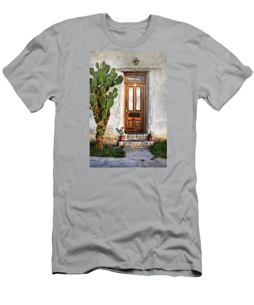 Men's T-Shirt (Slim Fit) featuring the photograph Wood Door In Tuscon by Ken Smith