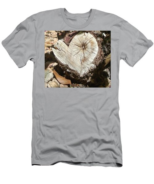Wood Heart Men's T-Shirt (Athletic Fit)