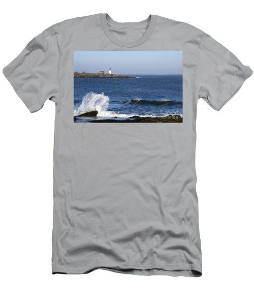 Wood Island Light Men's T-Shirt (Athletic Fit)