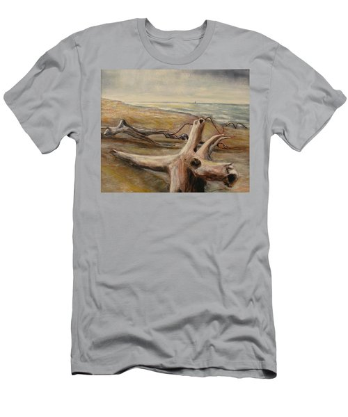Wood Sand Water And Sky Men's T-Shirt (Athletic Fit)