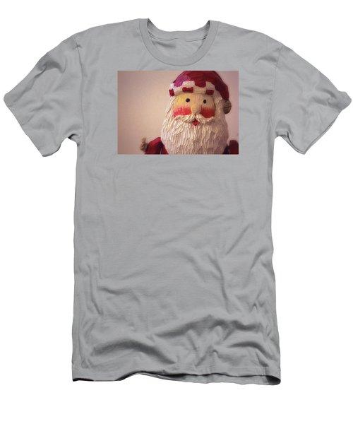 Wooden Toy Santa Men's T-Shirt (Slim Fit) by Nadalyn Larsen