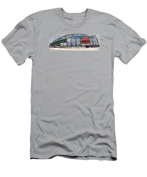 Wrigley Field On Clark Men's T-Shirt (Slim Fit) by David Bearden