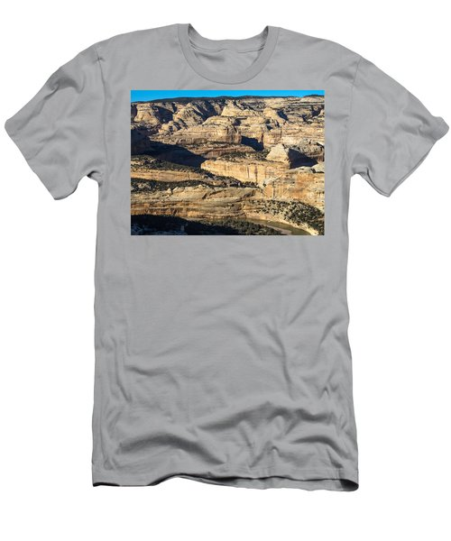 Yampa River Canyon In Dinosaur National Monument Men's T-Shirt (Slim Fit) by Nadja Rider