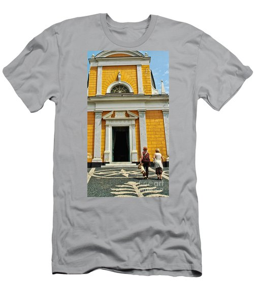 Men's T-Shirt (Slim Fit) featuring the photograph Yellow Church by Allen Beatty