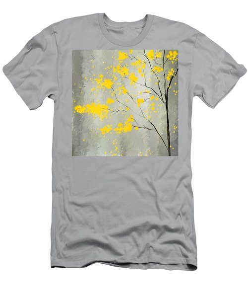 Yellow Foliage Impressionist Men's T-Shirt (Athletic Fit)
