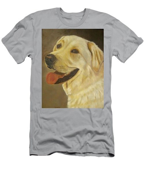 Yellow Lab Men's T-Shirt (Slim Fit) by Sharon Schultz