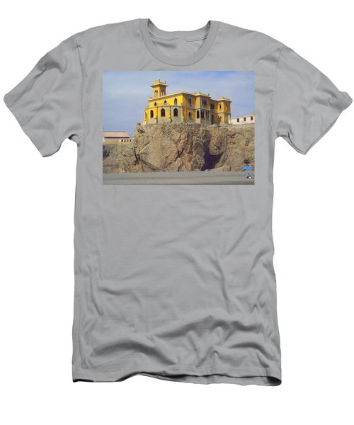 Men's T-Shirt (Slim Fit) featuring the photograph Yellow On The Rocks by Lew Davis