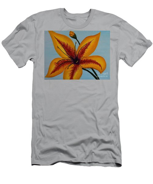 Yellow Oriental Lily Men's T-Shirt (Athletic Fit)
