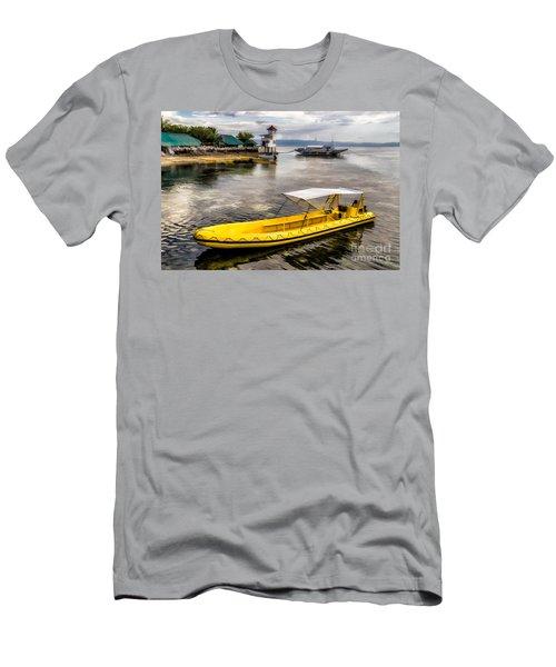 Yellow Tour Boat Men's T-Shirt (Athletic Fit)