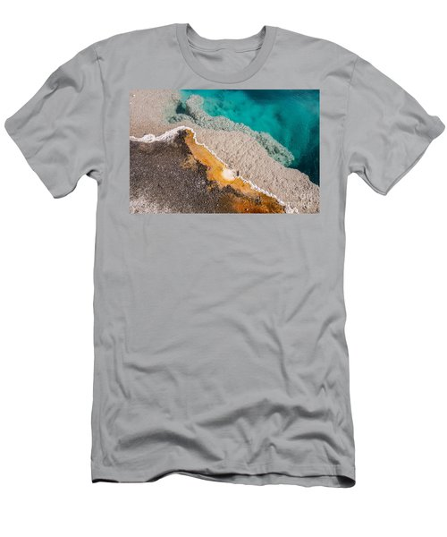 Yellowstone Abstract Men's T-Shirt (Slim Fit) by Sue Smith