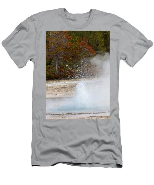 Yellowstone Geyser Men's T-Shirt (Athletic Fit)