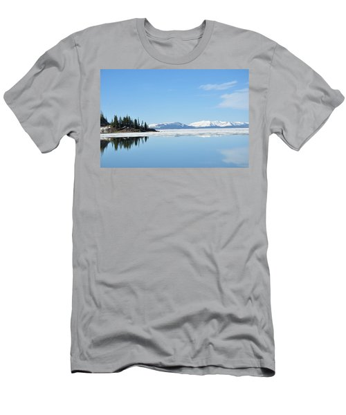 Yellowstone Lake In The Spring Men's T-Shirt (Athletic Fit)