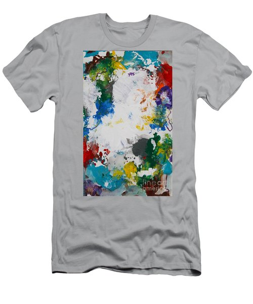 Yes Abstract Men's T-Shirt (Athletic Fit)