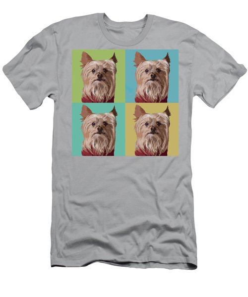 Yorkie Times Four Men's T-Shirt (Athletic Fit)