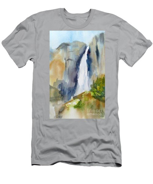 Yosemite Falls Springtime Men's T-Shirt (Athletic Fit)