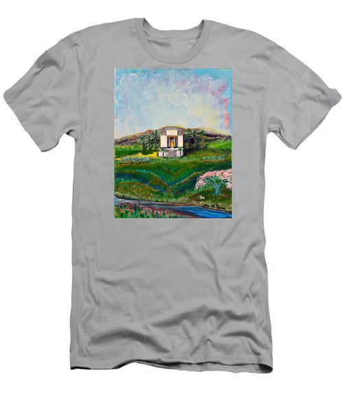 Men's T-Shirt (Slim Fit) featuring the painting You Are The Temple Of God by Cassie Sears